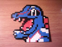 Totodile Perler by CooltrainerBrooke