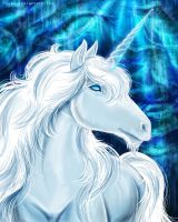 White unicorn by FoxDJ