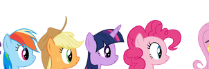 (vectored) IDW comic scene (mane 6 interests) by kuren247