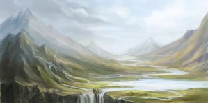 Landscape. Valley. by Lagoonnw