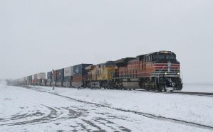 UP 1996 on NS 224 in a Winter Wonderland by EternalFlame1891