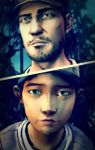 Nick X Clementine (TWDG) by AngelMoon13