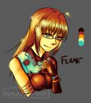Cross Palette Challenge: Flame by Veiledbyamask