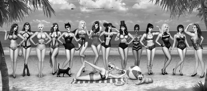 DC girls Day at the Beach by Nszerdy