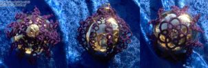Shiney Gold and Purple Ornament by Dorothy-T-Rose