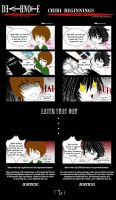 Death Note: Chibi beginnings by Ludra-Jenova