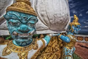 tiger temple top blue head 2 by lesterlester