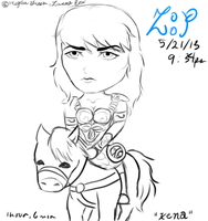 Xena: Warrior Chibi by ZannaCox