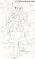 My Little Pony:Gilda also dress up for the Cosplay by Jojocoso