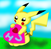 Pikachu I love you by PunkBune