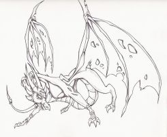 Cynder sketch by MysticSuicune