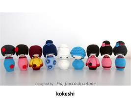 Kokeshi by cottonflake