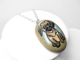 Pug Dog Pendant Necklace by sobeyondthis