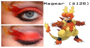 Pokemakeup 126 Magmar by nazzara