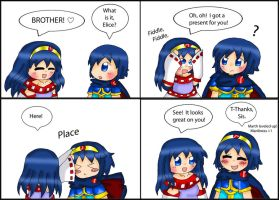 Fire Emblem Comic: Marth and Elice by purplemagechan