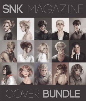 SnK Magazine Cover Bundle by emametlo