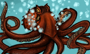 Octopus test by Pygmyink