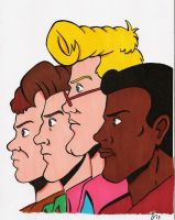 The Real Ghostbusters by zombiegoon