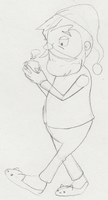 Dr. Schrader in Pyjamas Doodle by SamCyberCat