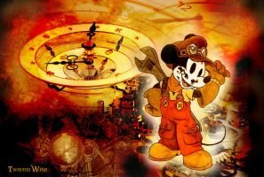 Mickey Mouse steampunk wallp by twisted-wind