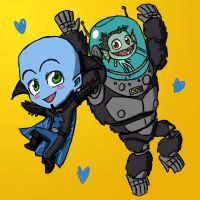 Chibi Megamind and Minion by Coley-wog