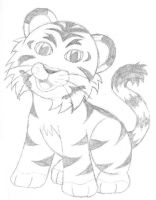 Chibi Baby Tiger by VirusMetalGarurumon