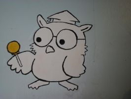 Wall Painting - Tootsie Pop Owl by Maplemay