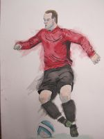 Completed Rooney Drawing by MUFC10