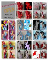 My Little pony Commissions are OPEN by CINNAMON-STITCH