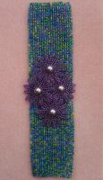 Purple Passion cuff by Autumn-beads