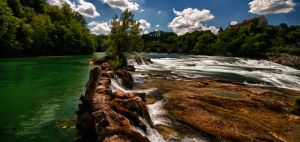 Above Rhinefalls HDR by Creative--Dragon