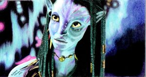 Neytiri Color Pencil by barbara-camara