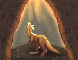 Caveing In The Light by HamsterFluf