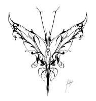 Butterfly Tattoo first version by Firebli9ht