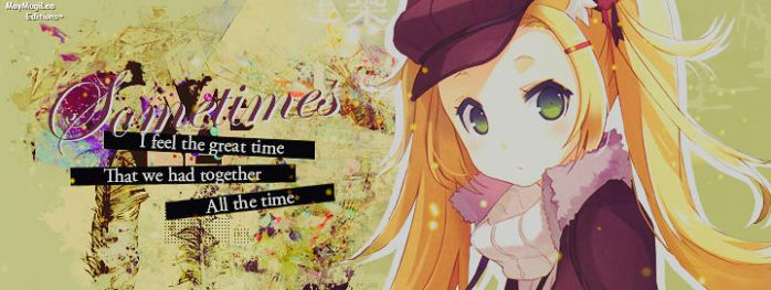 FB Cover - Sometimes. . . by MayMugiLee