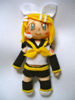 Kagamine Rin Plushie by dollphinwing