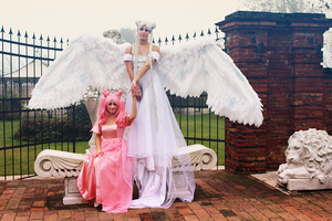 Chibiusa, Mother and daughter by LaurelinAureo