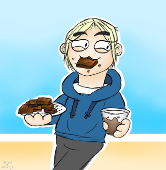 Lexi stealing all the brownies by VideoGameLover15