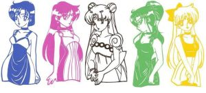 Princesses Of The Planets by UsagiSM20Papercuts