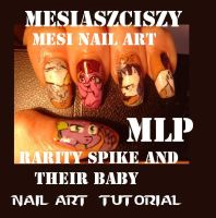 Rarity and Spike have a baby :)Nail art  see link by MesiaszCiszy