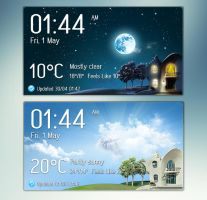 Panorama Clock Weather 2 v1 for xwidget by jimking