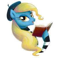 Madame Banane reading by Adlynh