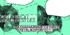 Pack of 2 aquamarine textures by itslikeperfect