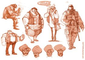 Characters 49 by Dattaraj