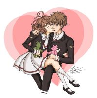 Sakura and Syaoran - Valentines Day by crimson-firelight