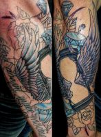 Neo-traditional Forearm by INK-SL1NG3R