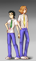 Boken no Jikan: Anton and Emile Tanaka by AskElodie-and-Amelie
