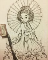 Geisha WIP by chrissie-zullo