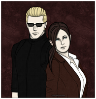 Wesker and Claire by FearTheOverseer