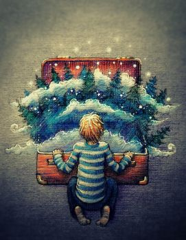 Suitcase Forest by nokeek